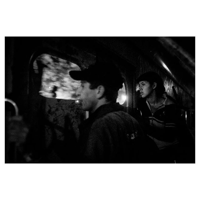 """Inside the """"tren blanco"""". Garbage pickers from the poor suburbs of Buenos Aires take an unmarked train to the city to work - Buenos Aires, Argentina, 2005."""
