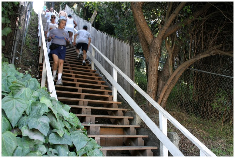 Santa Monica Stairs. Meet me there, if you dare.