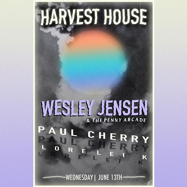 We've got a fantastic show coming up THIS week, Wednesday 6/13 @harvesthousedenton w/ @paulcherry69 and @loreleikmusic 🙌🏻 Hope to see y'all there 🎨: @voyeurreflections