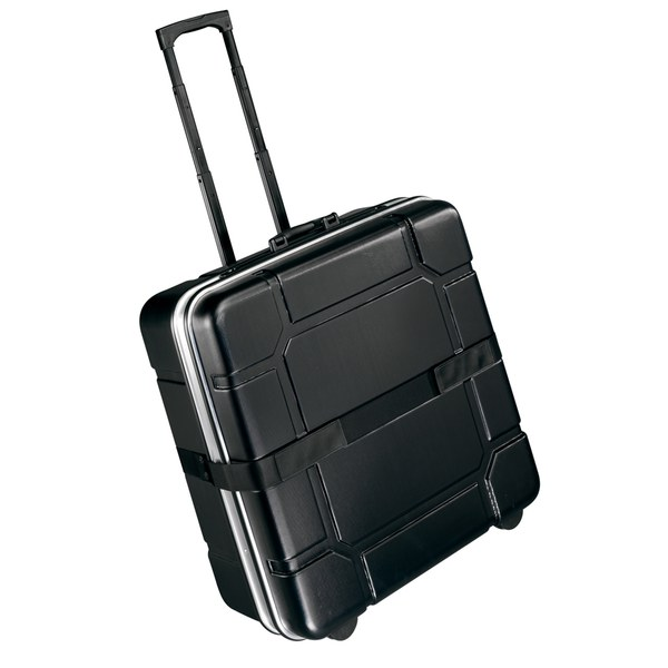 foldon case  -Made by B & W  International Cases -Telescopic handle and high quality inline wheels -Can also be used as suitcase -Internal Dimensions: 60 x 62.5 x 23 cm -External Dimensions: 64 x 70 x 33 cm  Total Weight: 7.2 kg