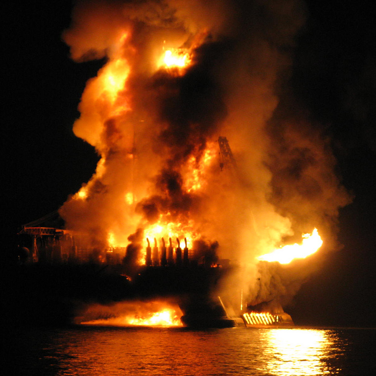 exploding oil rig from flickr creative commons