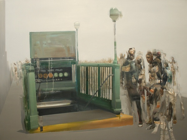 Union Square, Entrada, 36x48in, Oil and Mixed Media on Canvas, 2012.