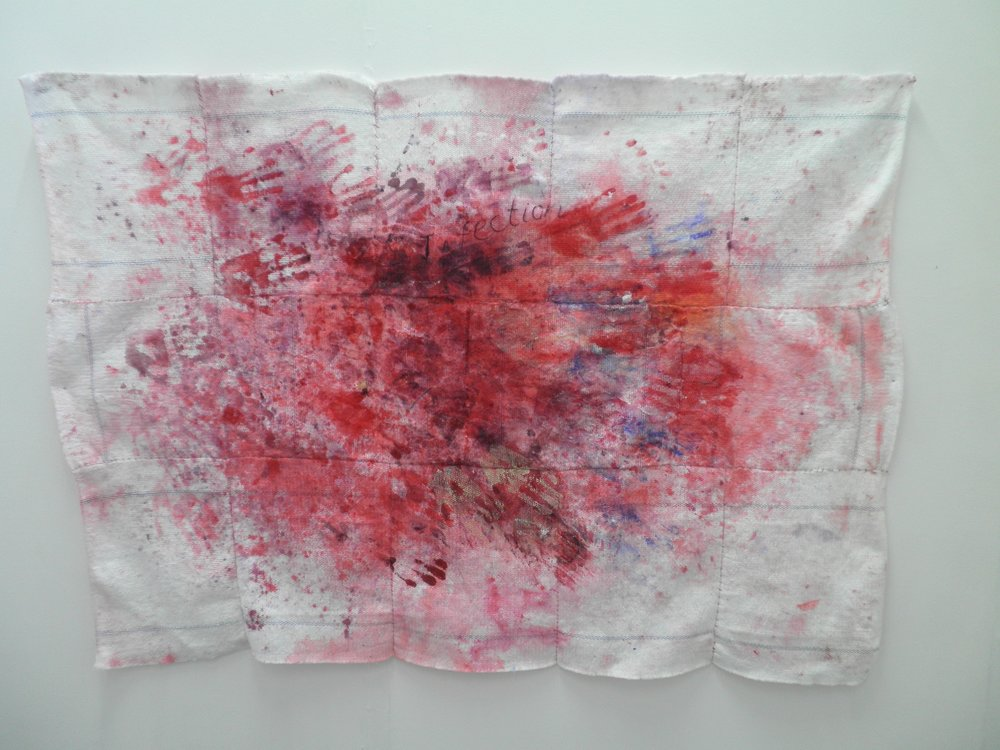 Infection, clothes sewn together to form a blanket, 2011.jpg