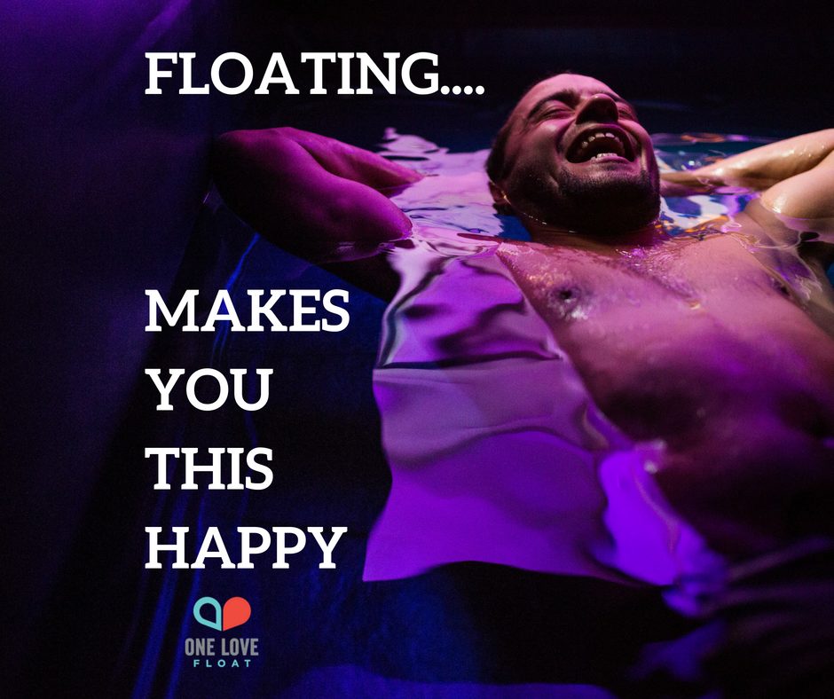 Floating makes you THIS happy