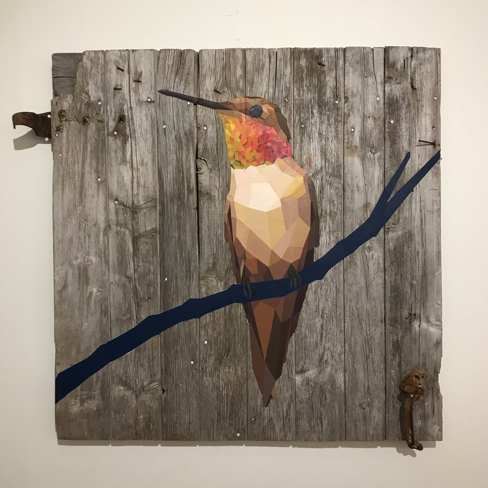 "Rufous Hummingbird - 42""x42"" - SOLD"