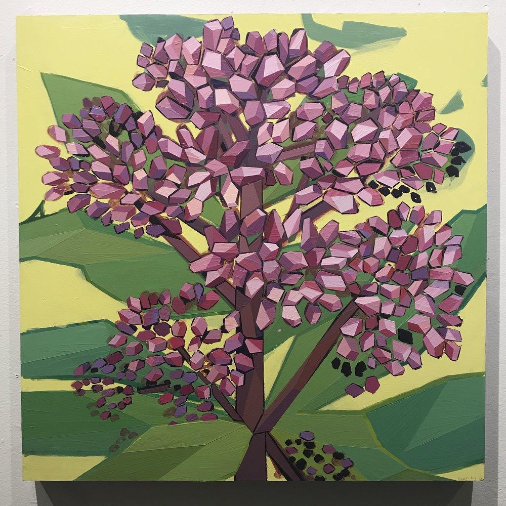 """Joe Pyeweed - 24""""x24"""" acrylic - $750"""