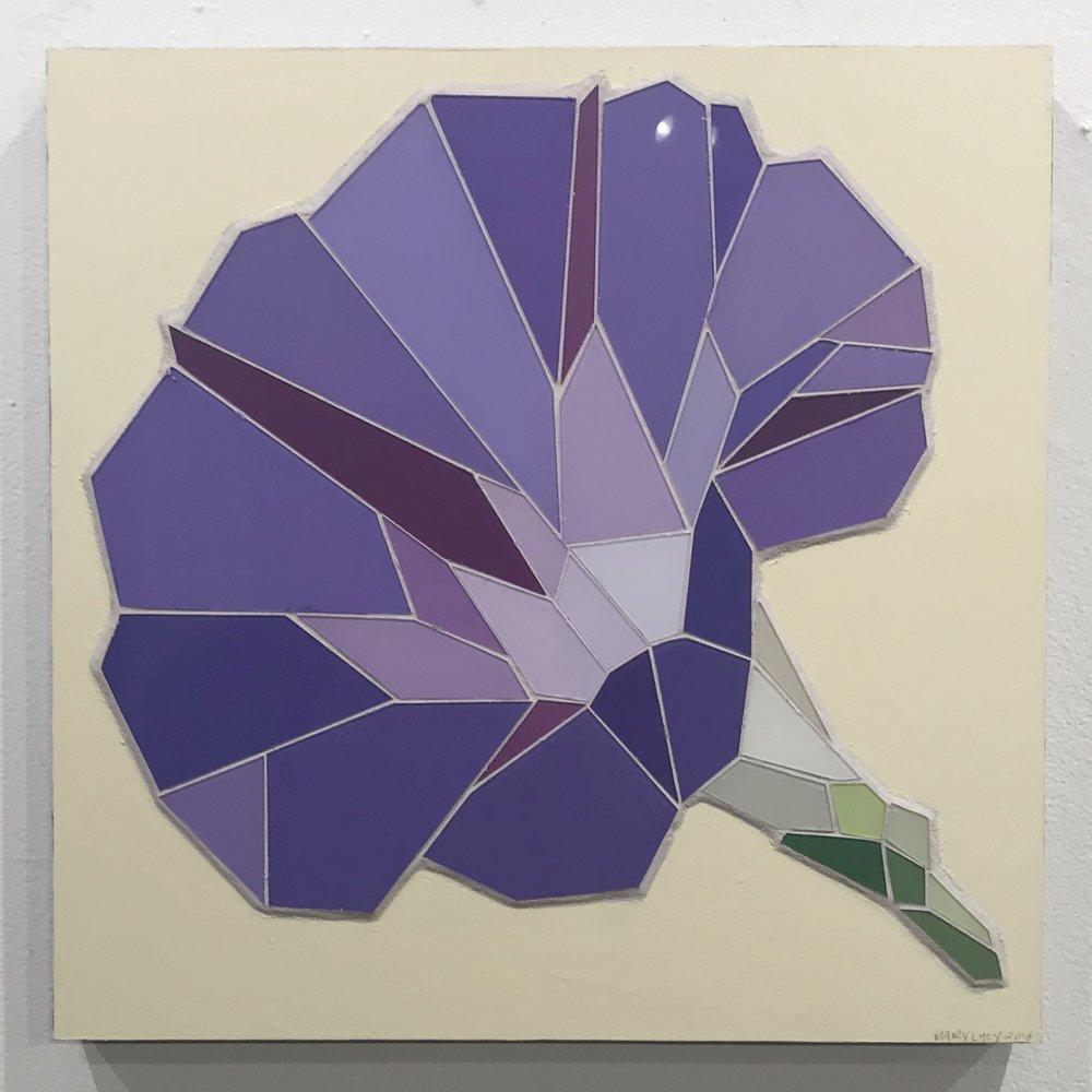 """Morning Glory - 16""""x16"""" glass mosaic - $700"""