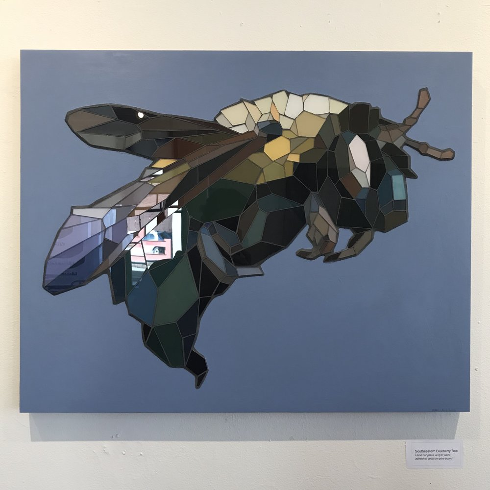 "Southeaster Blueberry Bee - 24""x30"" - SOLD"