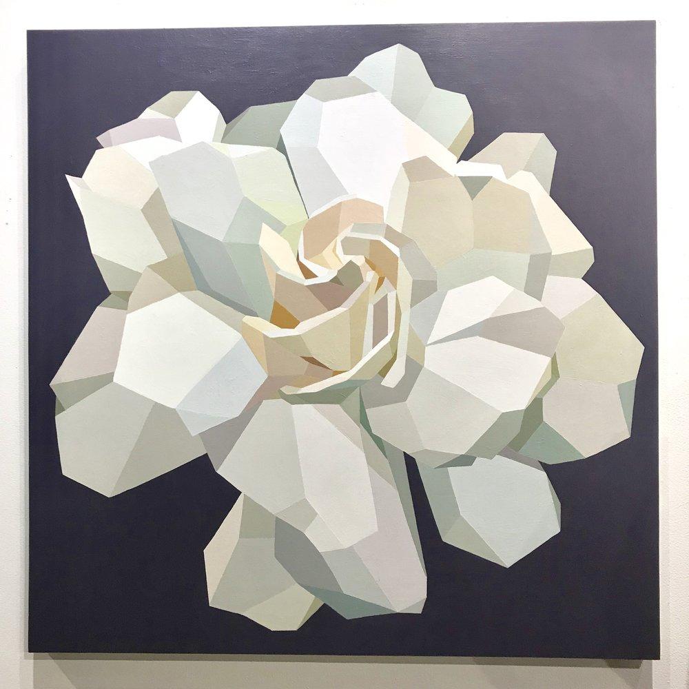 "Gardenia - 36""x36"" - acrylic - SOLD"