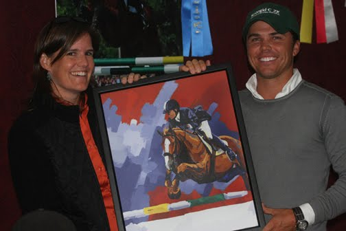 Kent Farrington Presentation - Presenting Kent Farrington the art of him and UpChiqui at the Fidelity Jumper Classic.