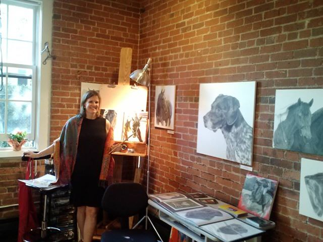 Gretchen Almy Studio - At my studio Open House.