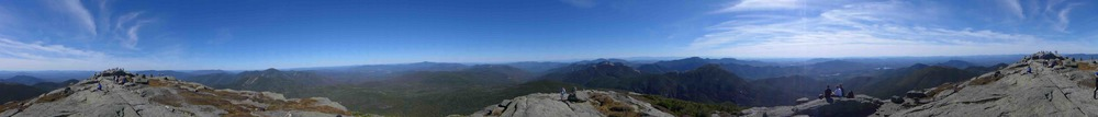 360 panoramic view from the top of Mount Marcy