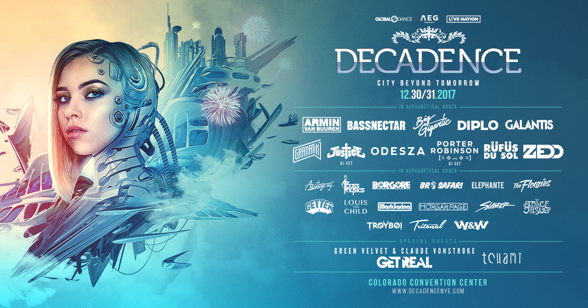 5 Artists You Don't Want to Miss at Decadence 2017
