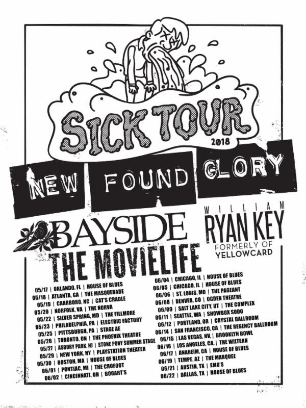 Image result for new found glory bayside tour