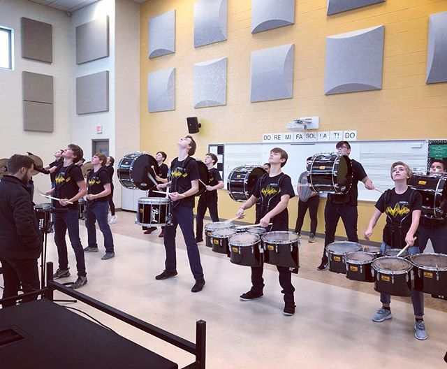 Shout out to the @lebanondrumline for repping RMD shirts at their first performance! #RMDsquad #MEPA #Drumline #Indoor