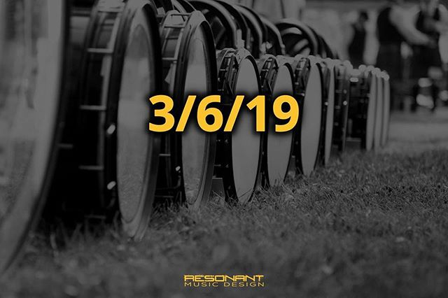 Happy #MarchingArtsDay! We have a big announcement coming later this week on 3/6/19, so make sure to tune in soon! #marchingband #RMDsquad
