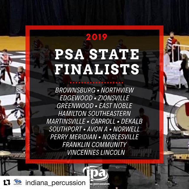 Congrats to our clients Vincennes Lincoln for advancing to @indiana_percussion state finals! #RMDsquad