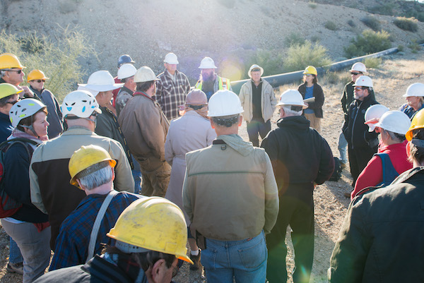 Trips - Organizing and leading a variety of exclusive field trips to mines and other sites throughout the Southwest is a highlight of membership for many.