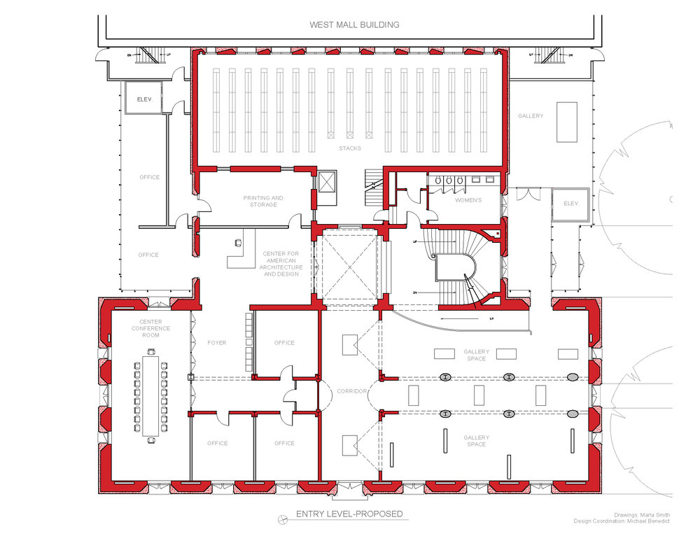 Plan Proposed- Drawing Marla Smith  Design Coordination-Michael Benedict