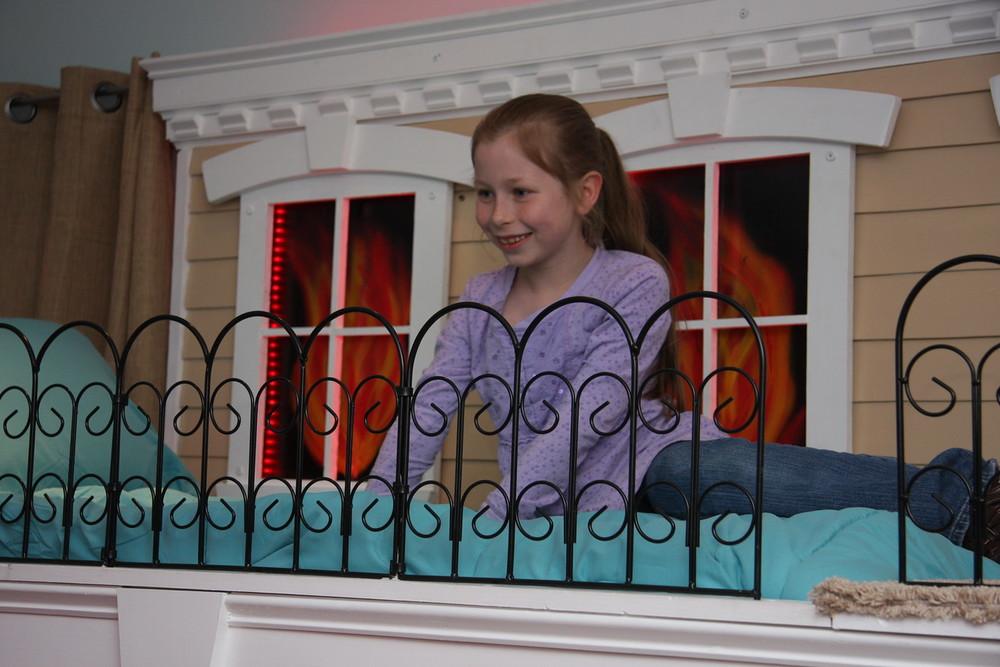 Hope loves her bunk!
