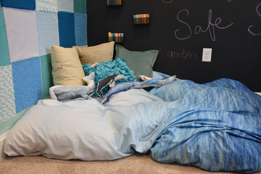 Ocean themed crash pad