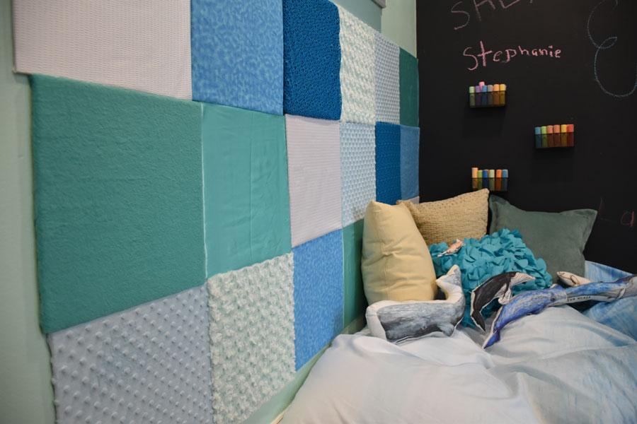 Textured sensory wall