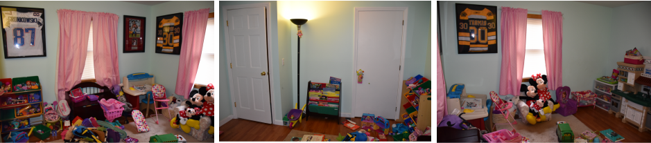 """Before Picture"" of Sophia's Playroom"