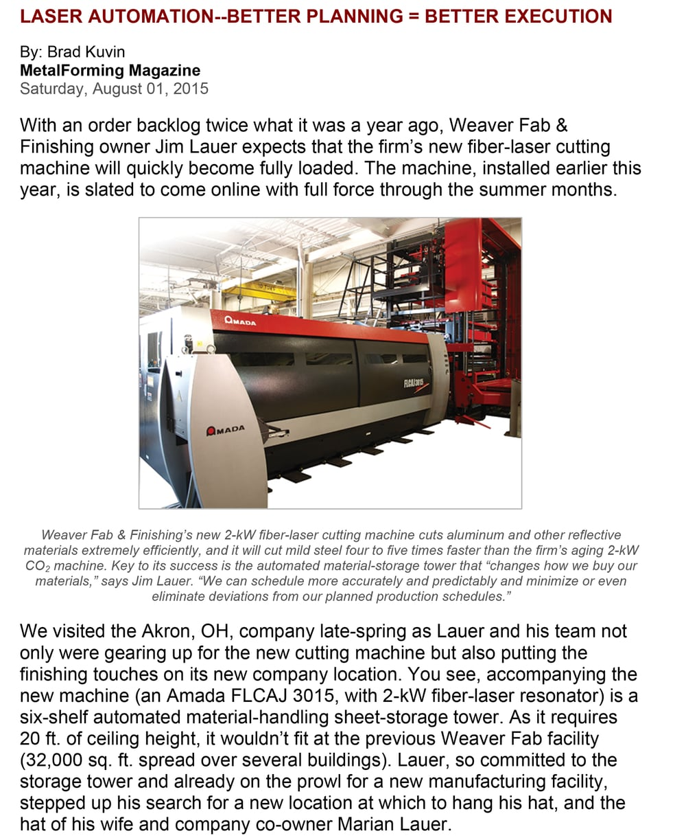 MetalForming Magazine   August 2015