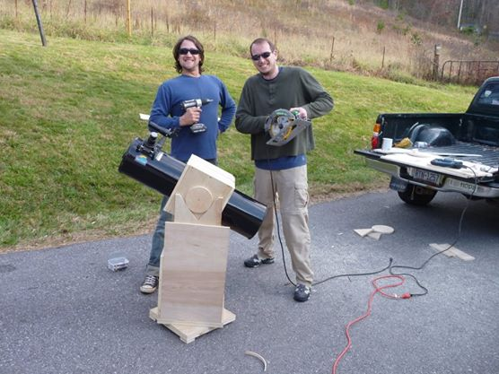 Travis and Gary build a telescope