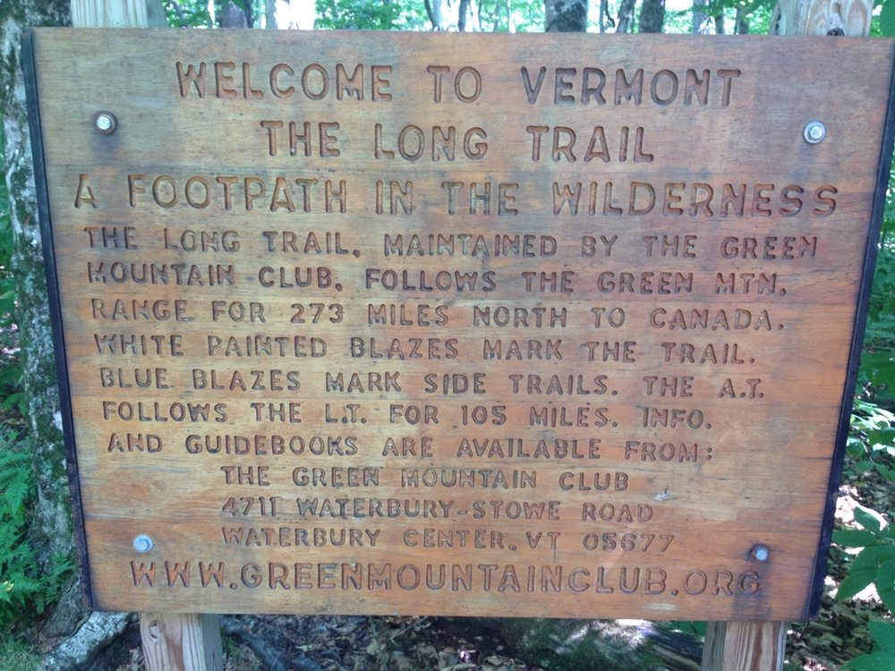 While I'm in Vermont, I will also walk 105 miles of the Long Trail.