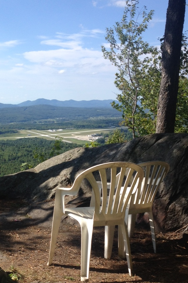 Thanks, whoever hiked these chairs up here!