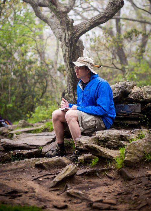 First Journal Entry at Springer Mountain - Photo by Mark Calcagni