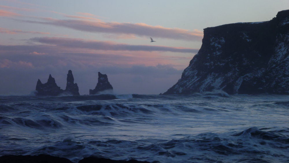 Reynisdrangar sea stacks