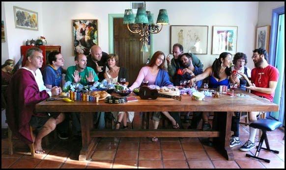 """Evangenitals """"Last Supper"""" photo by Steve Diet Goedde."""