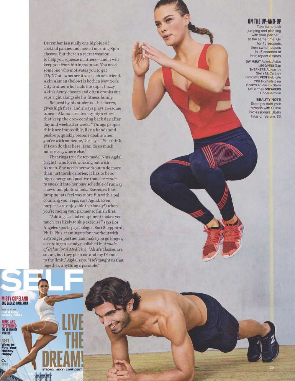 NINA AGDAL IN SELF MAGAZINE