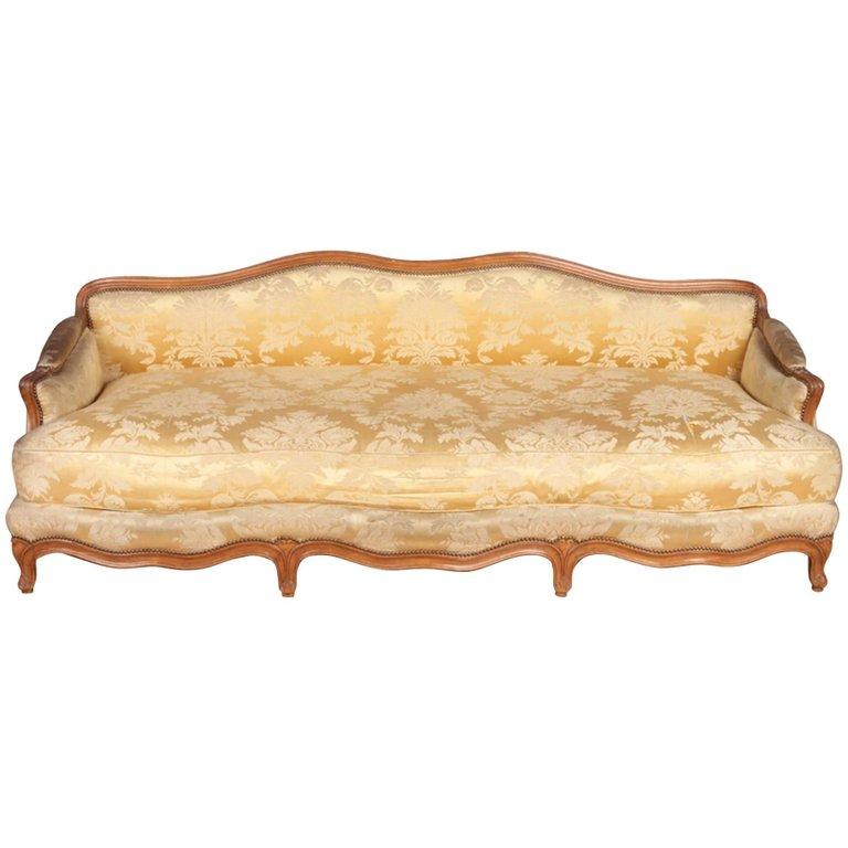 French Walnut Lounging Sofa