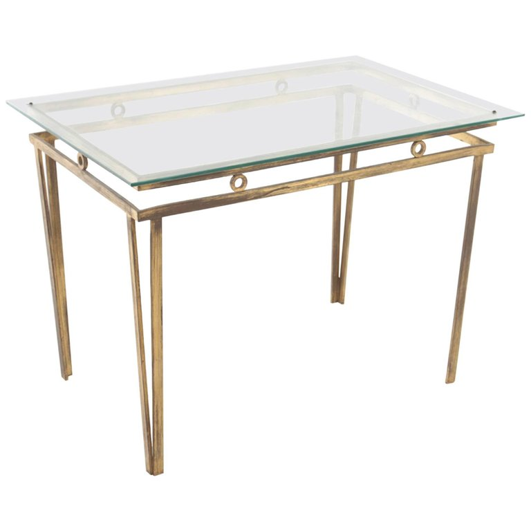 French Gilt Bronze Coffee Table. Gilt 01