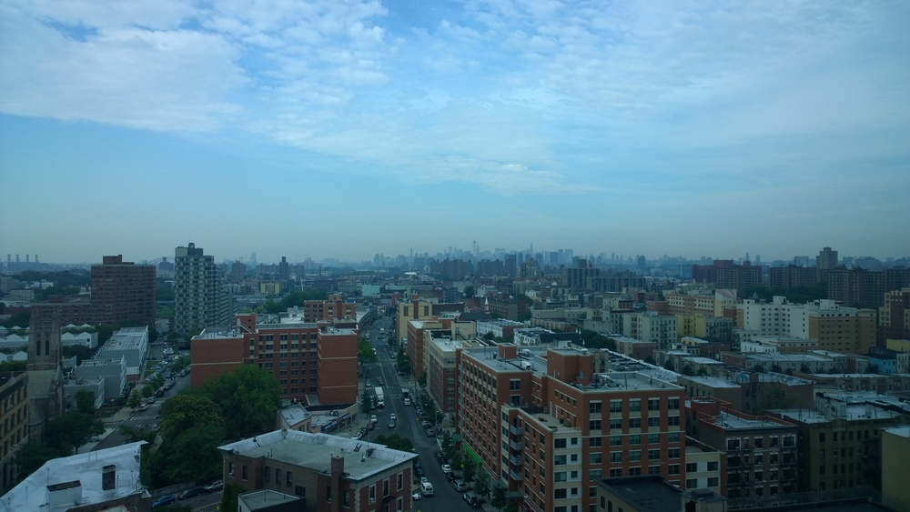 Beautiful view of Manhattan from the windows of Boricua College.