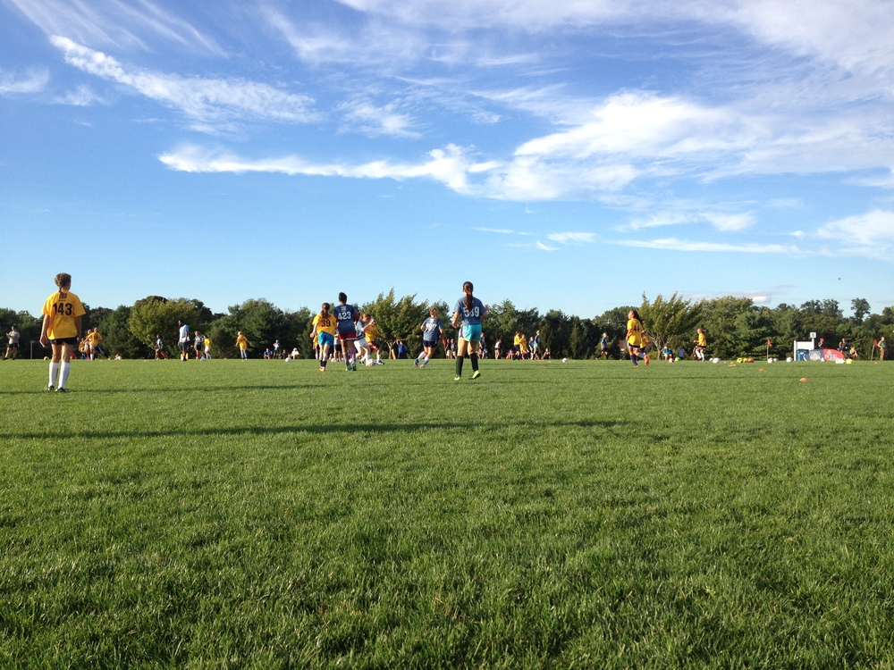 Beautiful day for the ODP Try-Outs!