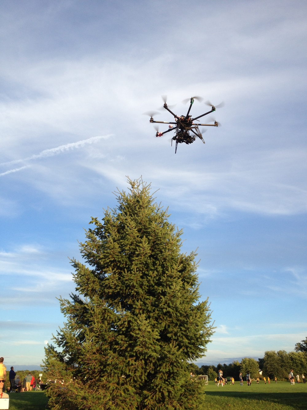It's a bird... it's a plane... No! It's CAP Aerial's copter soaring through the sky!
