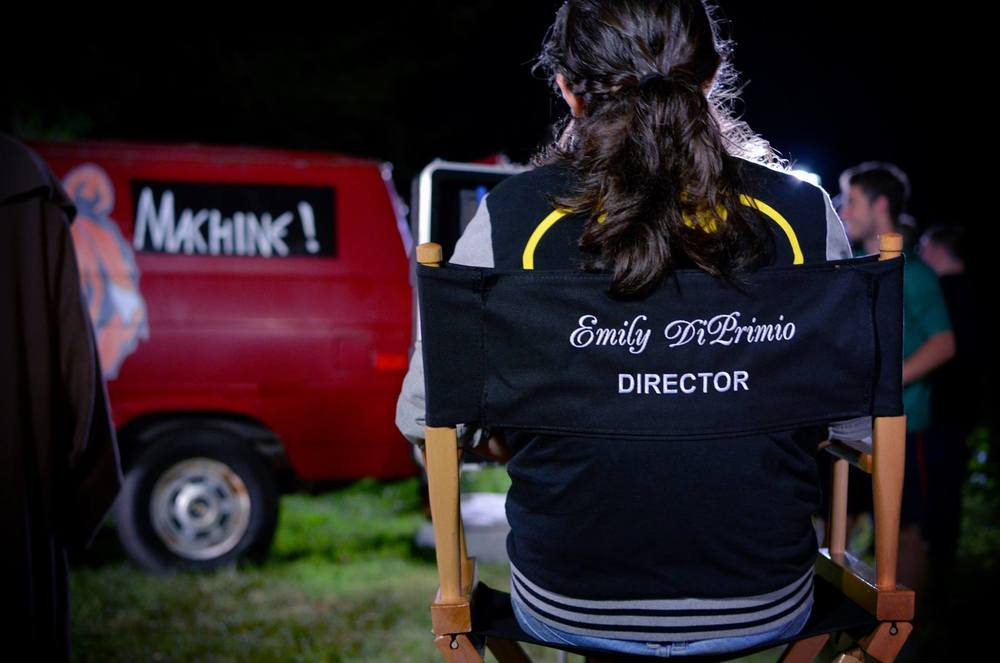 Emily DiPrimio directing a scene from Carver.