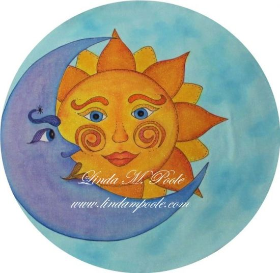 "#5- LINDA POOLE - ONE DAY CLASS FEB 7 WEDNESDAY - ""KISSED BY THE MOON"", PAINTING WITH INK PENCILS, INK & MORE"