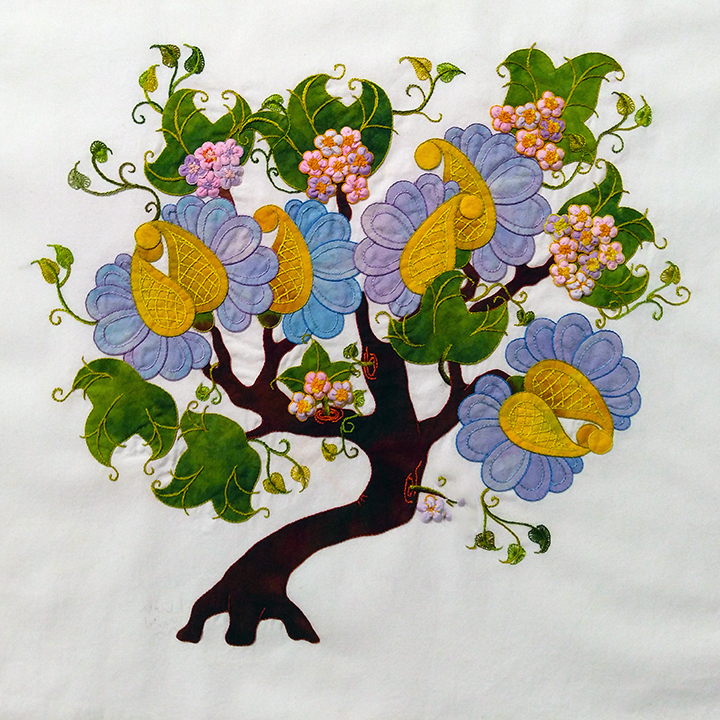 "#15 - SHARON SCHAMBER - TWO DAY CLASS FEB 6-7 TUES-WED - ""DREAMING TREE"" APPLIQUE BLOCK"