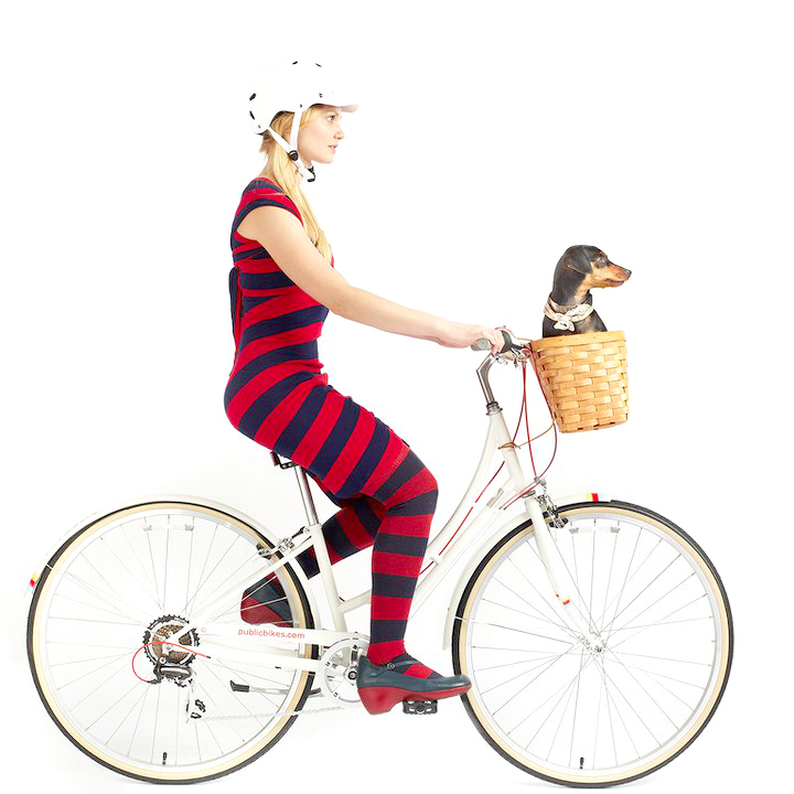 bikepretty, bike pretty, cycle style, cycle chic, bike model, girl on bike, bike fashion, cute bike, melissa davies, melissa, stripes, public bikes