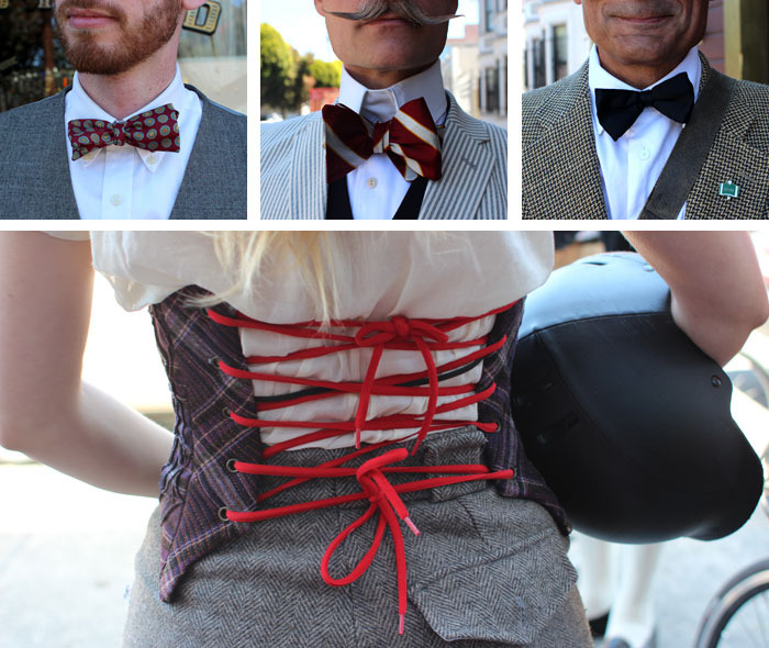 Bow ties and tight lacing at San Francisco Tweed Ride