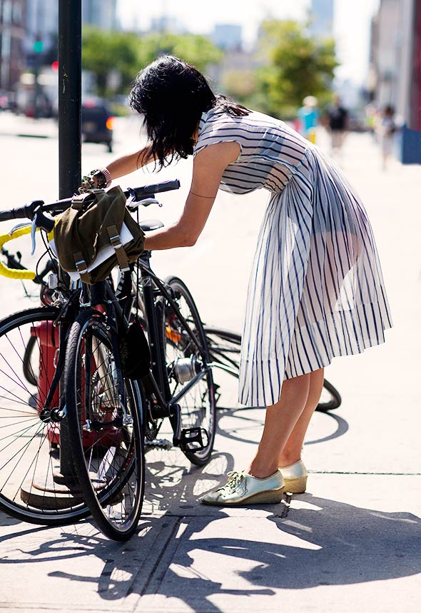 Sheer dress, Bicycles, Grooming, New York