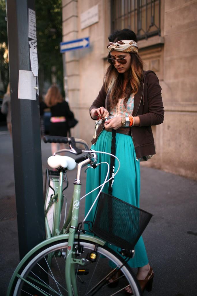 turban, palazzo pants, turquoise, cruiser, fashion, Milan