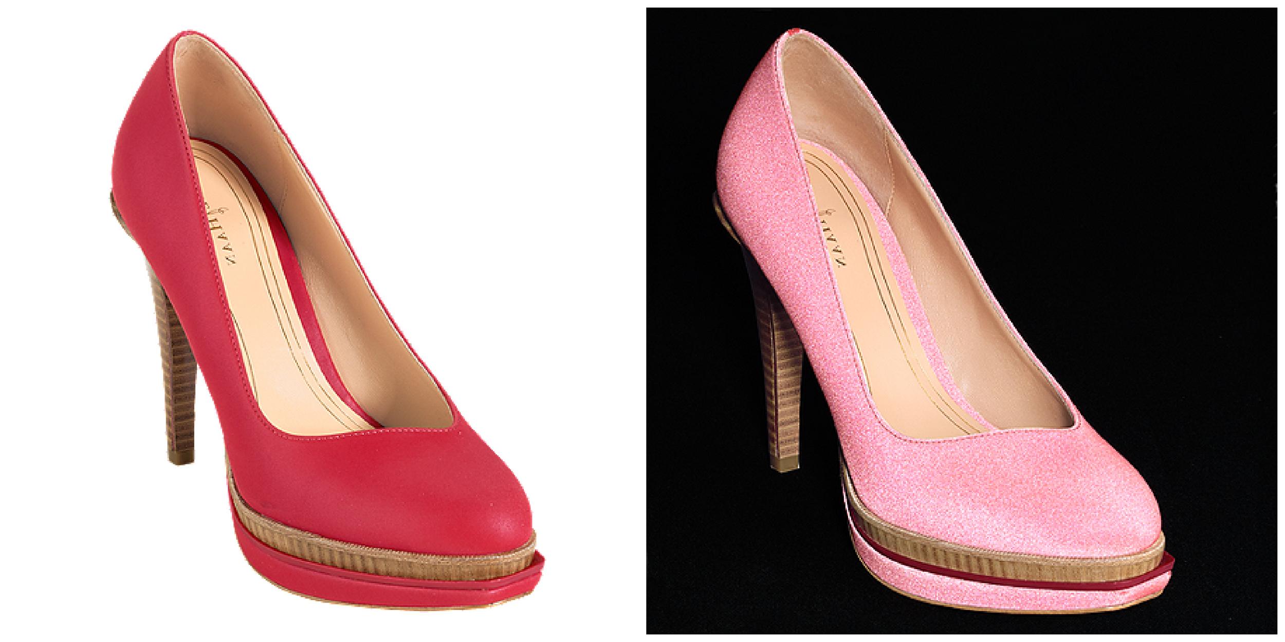 Chelsea Double Platform High Heel Reflective Tango Red