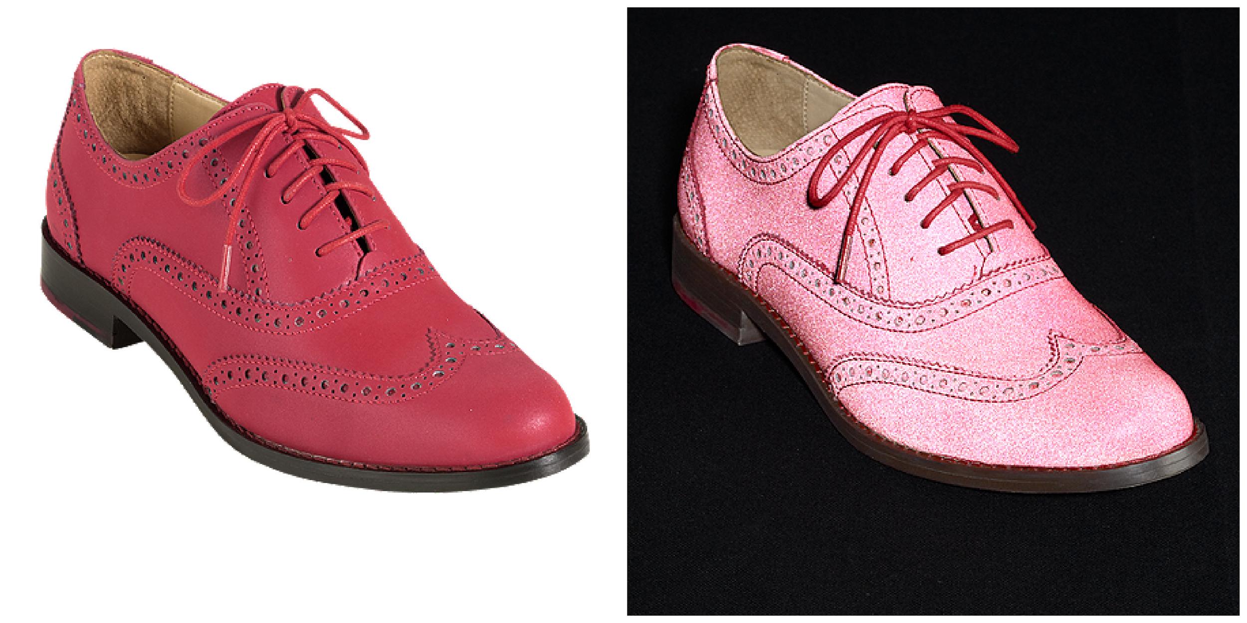 Skylar Oxford Wingtip Heel Reflective Tango Red