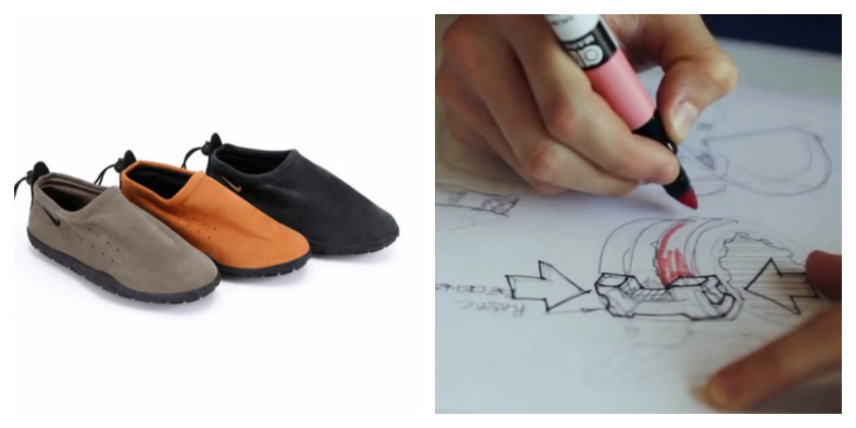 Orp Designer Tory Orzeck's Designs from Nike, at work on Orp Sketches